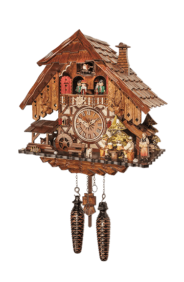 Double Beer Drinker Cuckoo Clock With Music Amp Dancing
